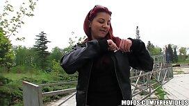 Djevojko veliko swedish vintage xxx dupe skače na debeloj muškoj farmi