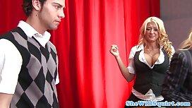 Crnka classic porno movies s velikim sisama rogala je crnom pastuhu